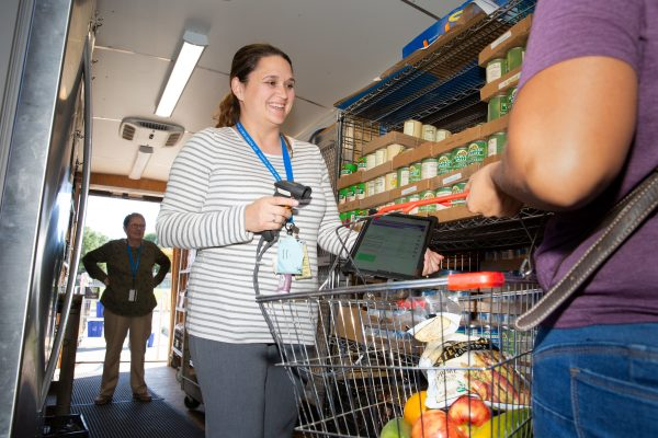 Mobile Food Pantry Makes a Stop at Howe Elementary School